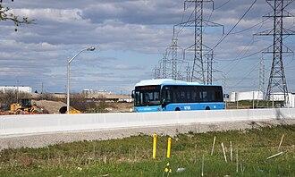 York University Busway - Viva Orange operating on the Hydro Corridor Busway