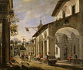Viviano Codazzi - Courtyard of an Inn with Classical Ruins - Walters 371851.jpg