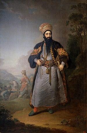 Fath-Ali Khan Qajar - Image: Vladimir Borovikovsky Mirza Kuli Khan (GRM)