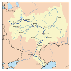 Map of the Volga watershed