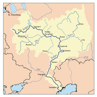 Volga region - Volga drainage basin