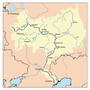 Map of the drainage basin of the Volga