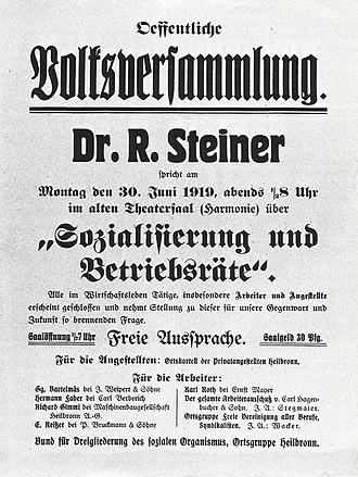 Social threefolding - Threefolding poster. June 30, 1919