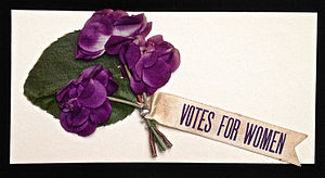 Woman suffrage parade of 1913 - Votes for Women Parade flowers, Historical Society of Washington, D.C.