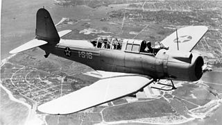 Vought SB2U Vindicator carrier-based dive bomber built in the United States in the 1930s