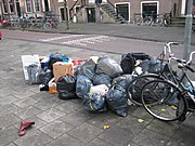 Waste bags in Amsterdam