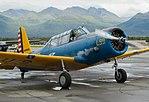 Vultee BT-13 starts engine at Merrill Field Anchorage, AK.jpg