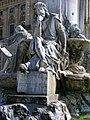 Würzburg - Frankoniabrunnen , Walther von der Vogelweide.JPG