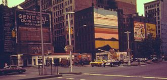 Houston Street - Houston Street at Lafayette Street in 1974