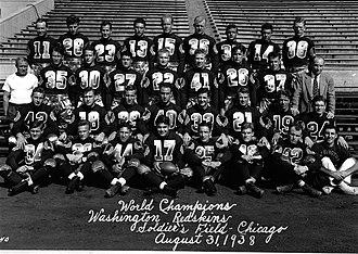 1937 Washington Redskins season - Image: WA Redskins 1938 small
