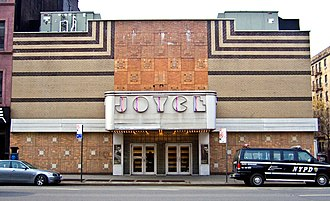 Pink Flamingos - The Joyce Theater in 2009; this building formerly housed the Elgin Theater, where Pink Flamingos was screened as a midnight movie in the early 1970s.