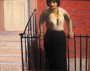 Guy Pène du Bois - An American Oriental, oil on canvas painting by Guy Pène du Bois, 1921, Los Angeles County Museum of Art