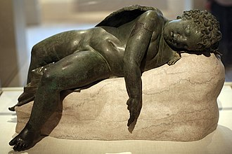 Sleep - Bronze statue of Eros sleeping, 3rd century BC–early 1st century AD