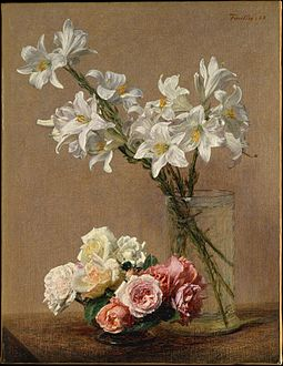 WLA metmuseum Roses and Lilies by Henri Fantin Latour.jpg