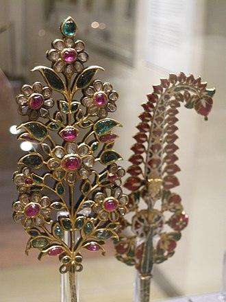 Sarpech - Sarpech (Turban ornament) with Safed chalwan back