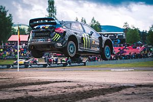 2016 World RX of Sweden - Andreas Bakkerud of Norway won his second event in a row