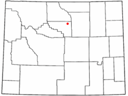 Location of Ten Sleep, Wyoming