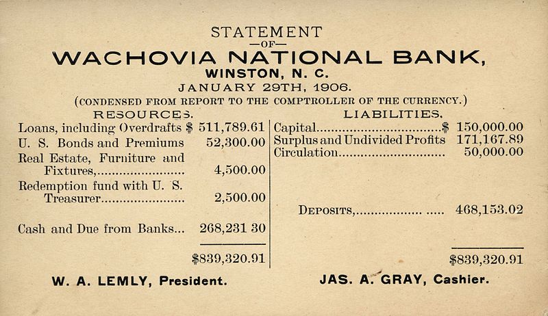 Berkas:Wachovia National Bank 1906 statement.jpg