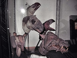 Walking with Beasts - Puppet heads used in the series, Horniman Museum, London