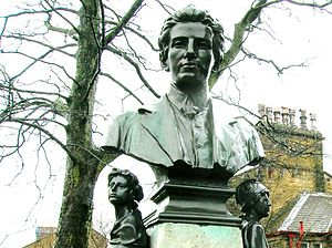 Wallace Hartley - Bust of Wallace Hartley in Albert Road, Colne, Lancashire