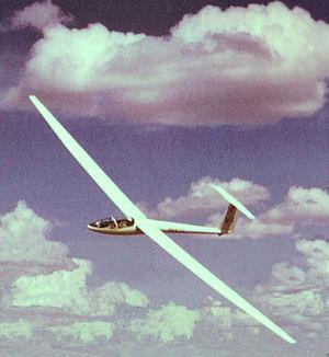 Wally Scott - Scott flying his Schleicher ASW 12 sailplane WA