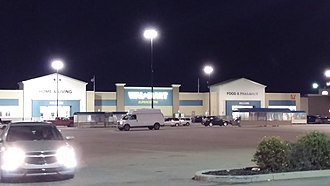 Walmart Canada - Walmart in Fort Saskatchewan, AB, with the old design in August 2016. This has since been renovated. However, ones in Vegreville and Okotoks retain this design.