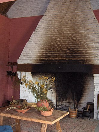 Hearth tax - A medieval hearth in Belgium dated circa 1465