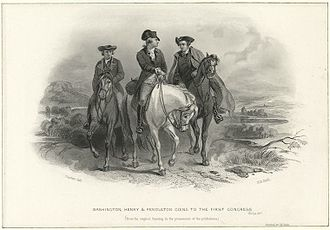 Henry Bryan Hall - Image: Washington Henry and Pendleton going to the First Congress