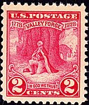 Washington at Prayer,Valley Forge, issue of 1928, 2c