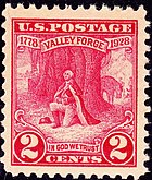Washington at Prayer, Valley Forge, issue of 1928, 2c
