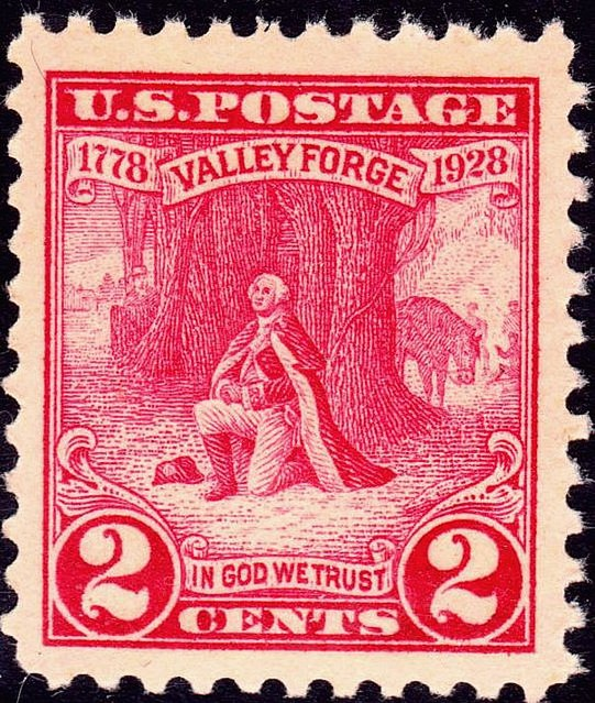 Washington at Prayer Valley Forge 1928 Issue-2c