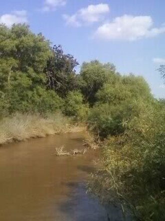 Black Kettle - The approximate location on the Washita River where Chief Black Kettle was killed