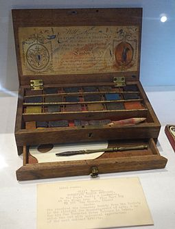 A Reeves box Watercolors by William Reeves, London, inventor of watercolors in cakes, undated - Joseph Allen Skinner Museum - DSC07847.JPG
