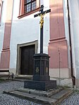 Wayside cross near Church of Saint Valentine in Příbor 1.jpg