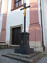 Wayside cross near Church of Saint Valentine