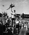 Wereldkampioenschappen wielrennen te Luik (Roncourt). Huldiging sprint. vlnr Van, Bestanddeelnr 908-8533.jpg