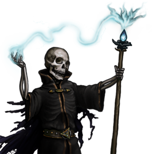 Lich - A lich from the game The Battle for Wesnoth