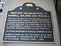 Western HQ of Russell, Majors & Waddell marker, SF.JPG