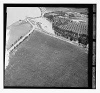 Where Jordan R. (i.e., river) enters Galilee. Jewish colony of Digana (aerial view) LOC matpc.13713.jpg