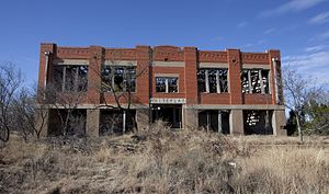 Whiteflat, Texas - Abandoned Whiteflat School