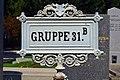 Wiener Zentralfriedhof - Schild Gruppe 31 B.jpg