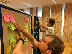 Wikimedia Hackathon 2017 - documentation sprint - working board.jpg