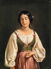 Standing Italian Woman