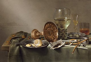Still Life with Tazza, Tobacco and Peeled Lemon