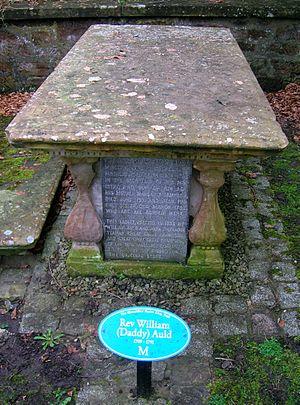 Helenton Loch - William Aulds gravestone at Mauchline.