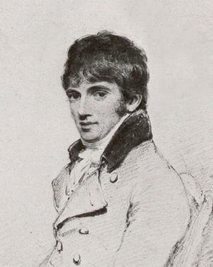 William Daniell - Fragment of a portrait of Daniell by Richard Westall