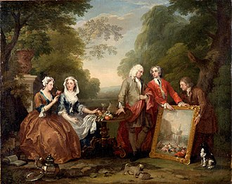Trump (dog) - Image: William Hogarth Portrait of Sir Andrew Fountaine with other people
