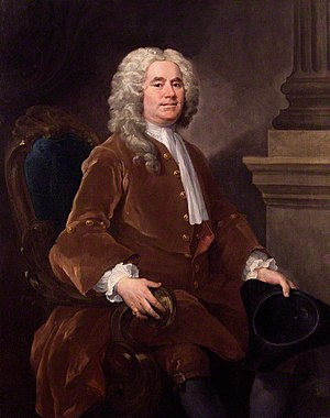 William Jones (mathematician) - Portrait of William Jones by William Hogarth, 1740 (National Portrait Gallery)