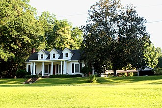 Sweet Water, Alabama - Postbellum style house located on Main Street.