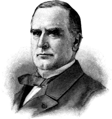 black-and-white picture of a US President William McKinley